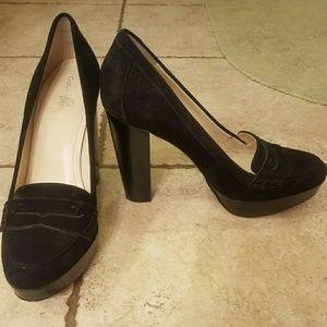 Calvin Klein thick heel pump